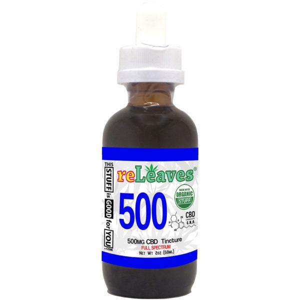 2oz reLeaves 500mg CBD Full Spectrum Tincture