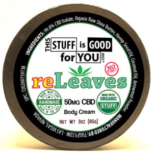 CBD Body cream 3oz reLeaves 50mg CBD Body Cream