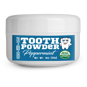 2.5oz Fluoride-Free Peppermint Tooth Powder
