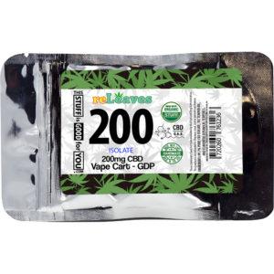 CBD Vape reLeaves 200mg CBD GDP Disposable Vape Cartridge